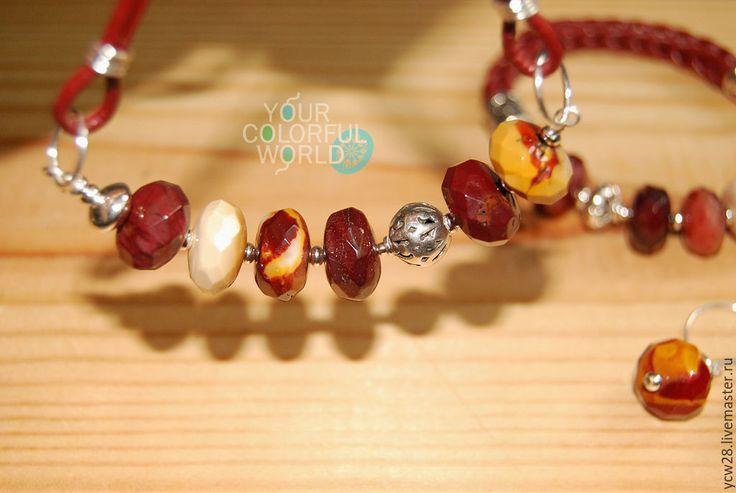 Купить Черешневое колье // Cherry Necklace - авторская ручная работа, авторские украшения