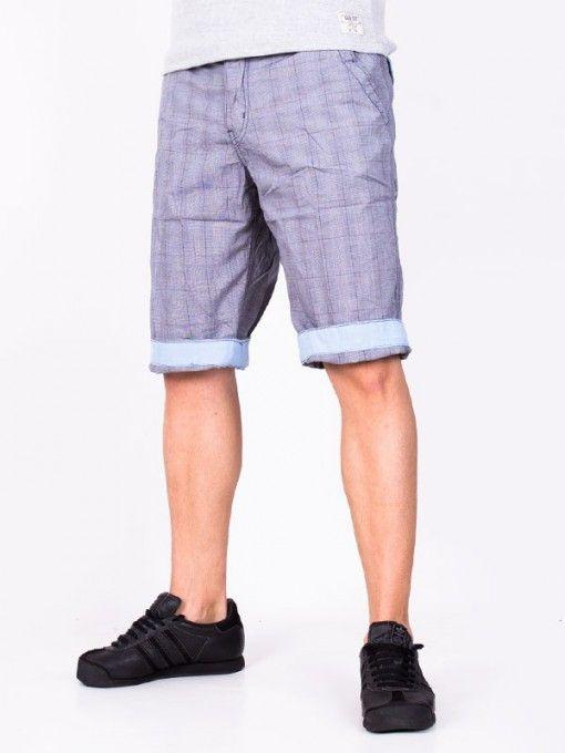 Pantaloni scurti barbati Popular Co - albastru