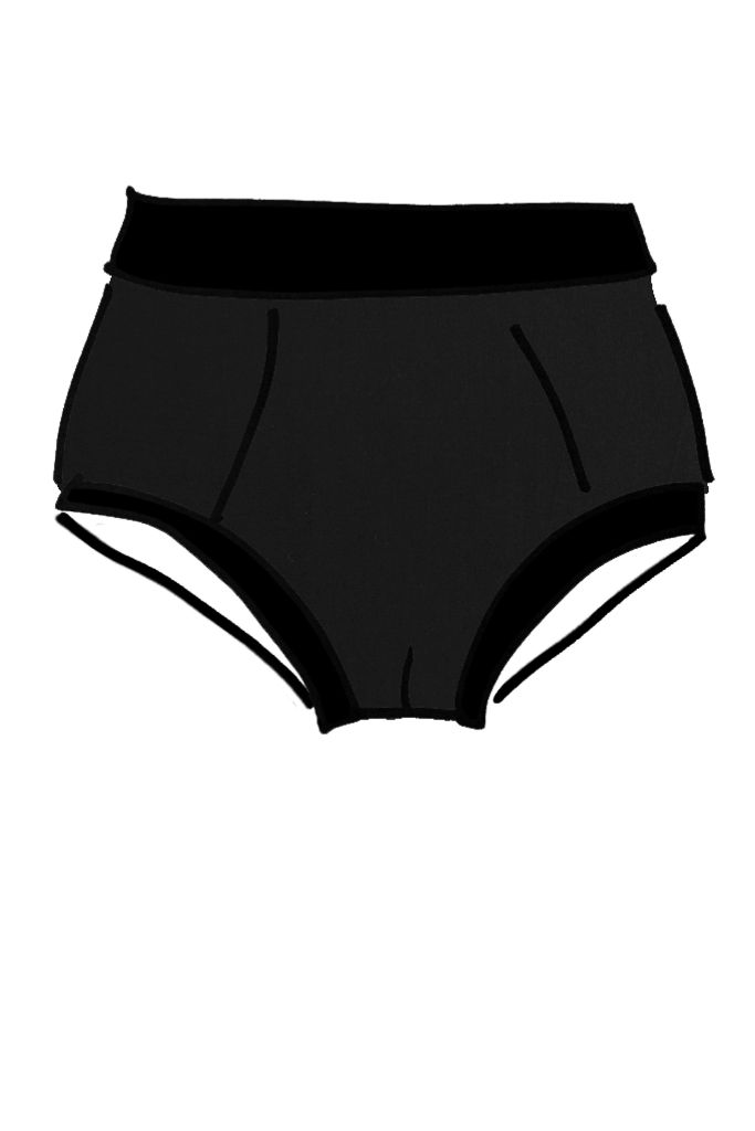 The Original comfy mens undies that don't go up your bum in the always faithful plain black option.  Fit Fabric Care The Original comfy mens undies that don't go up your bum! These very comfortable briefs are based on the 1950's Y front. Although there is no Y opening, the soft and stretchy fabric is easily pulled out of the way for easy access! The sizing of the original runs a little larger than the mens boxer as it is not such a fitted style. The Thunderpants fabric is 90% organically…