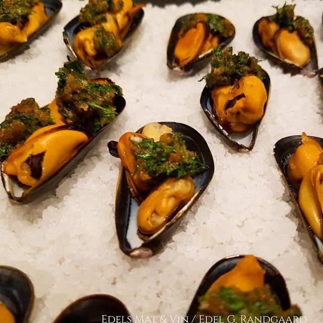 Edels Mat & Vin: Gratinerte blåskjell ♫♪