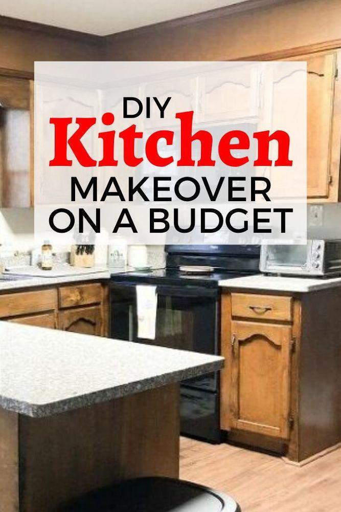 Diy Kitchen Cabinet Makeover Idea On A Budget In 2020 Diy Kitchen Cabinets Makeover Kitchen Makeover Cheap Kitchen Makeover