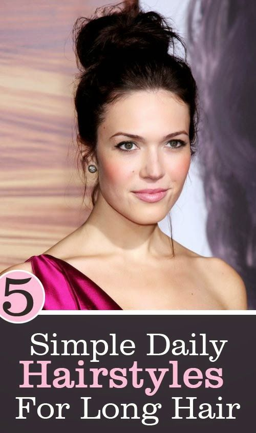 5 Simple Daily Hairstyles For Long Hair