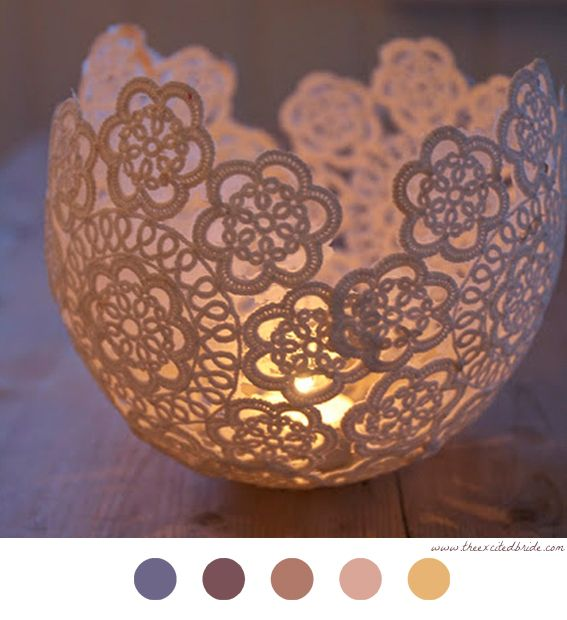 Bougeoir En Dentelle - DIY Déco - Décoration - Decoration - Candle - Bougie - Bougeoir - Candestick - Lace - Dentelle - Crochet Doilies - Napperon Crochet - Tuto - Tutoriel -