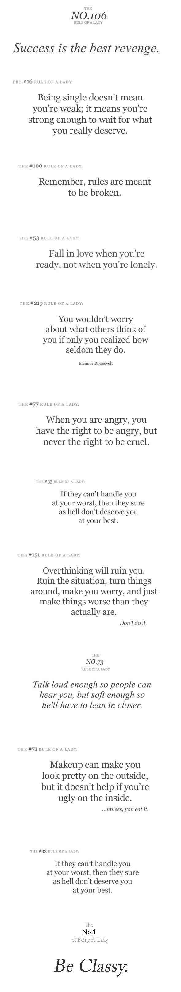 Some self realization right here! :) Made me smile actually! My fav's: rule #16 and rule #53!