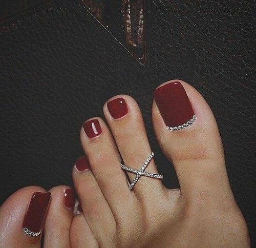 Best 25 Little Girl Nails Ideas On Pinterest: 25+ Best Ideas About Red Pedicure On Pinterest