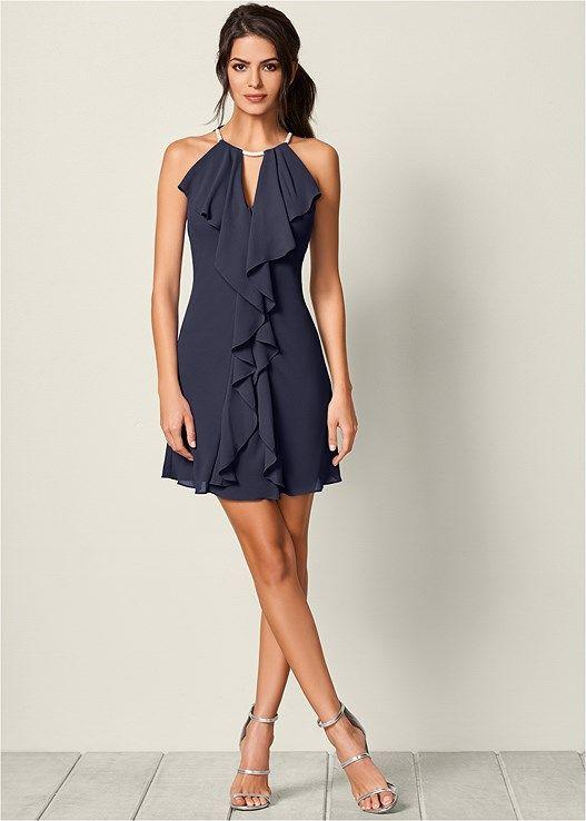 5981ba6ad5606 Embellished trim dress