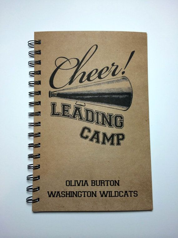 Cheerleading Camp, Cheerleader Camp Notebook, Camp, Notebook, Cheer, gift, Camp Journal, Best Friend, Notebook, gift, Diary, Cheerleader