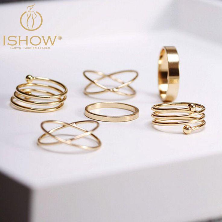 6 pcs um monte de Ouro midi Knuckle punk anéis empilháveis para mulheres conjunto anel de Dedo Anelar bague bijoux mulheres jóias senhor dos aneis em Anéis de Jóias & Acessórios no AliExpress.com | Alibaba Group