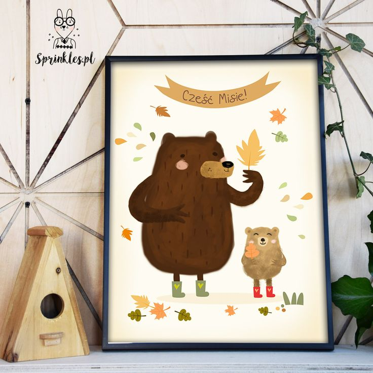 Hello Bears! Autumn. Illustration for kids.