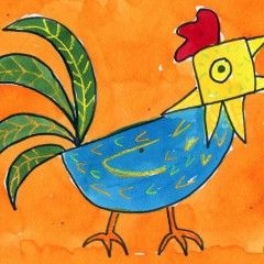 Art Projects for Kids. Draw a Rooster with my pdf tutorial, in my new How To Draw Gallery. #howtodraw