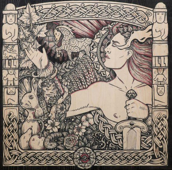 Slavic viking art god Jarylo art print fantasy
