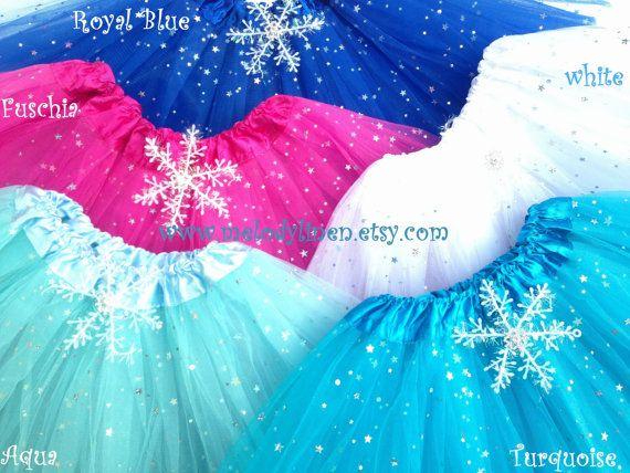 Frozen Tutu Party Pack-6-16 tutus frozen birthday by Melodylinen