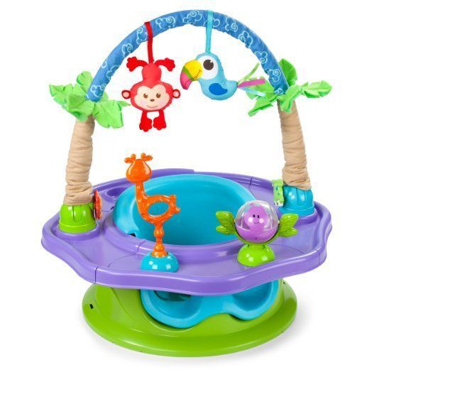 Summer Infant Activity Seat Baby Walker Toddler Center Seat Toys Jungle Chair #SummerInfantActivity
