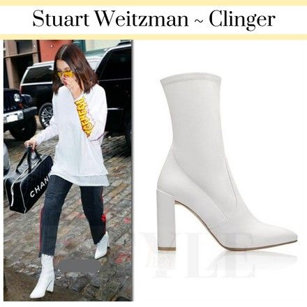 cbe5b08dfab5 Stuart Weitzman White Clinger Women s Ankle Short Mid Calf Suede Boots Booties  Size US 10 Regular (M