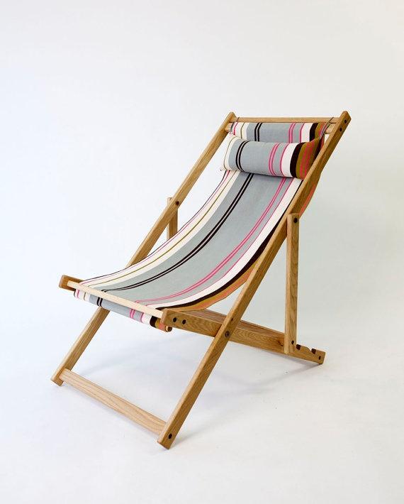 Tywyn Grey Deckchair by gallantandjones on Etsy, $318.00