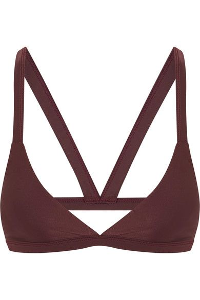 Mikoh - Honolulu Cutout Triangle Bikini Top - Grape - x small