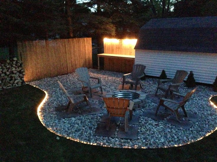 Backyard fire pit project