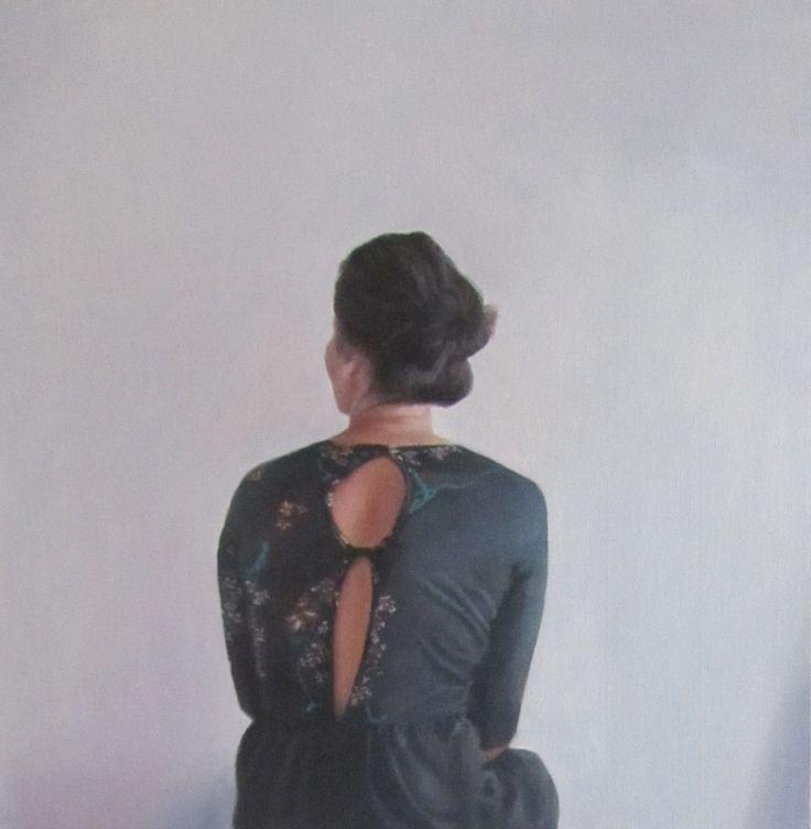 """""""The Wallflower"""" - oil on canvas, 40.5cm x 40.5cm"""