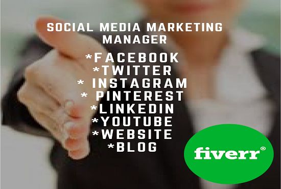 Social media marketing is the pioneer marketing strategy that helps in your business sales and conversions. Reaches your clients at doorstep and move your business idea to large audience.  I'll manage your  accounts (or create them from scratch if you don't have them already!). I social media management for following business  Entertainment  Technology Ecommerce Shopping Business promotion Health Awareness event Education Lifestyle Fashion Fitness