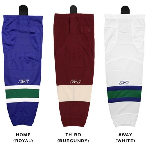 $22.99 Vancouver Canucks Reebok Edge SX100 Junior Hockey Socks