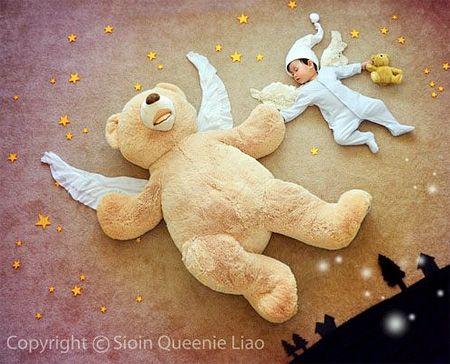 Creative photos of a dreaming babies...