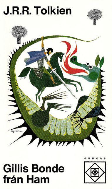 J.R.R. Tolkien - Gillis Bonde från Ham (Farmer Giles of Ham). Cover by Rolf Lagerson. Printed 1970.