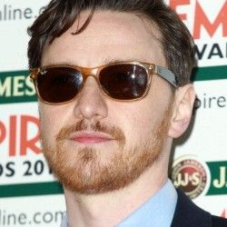X-men star, James McAvoy looks good with Ray Ban wayfarers sunglasses RB2132