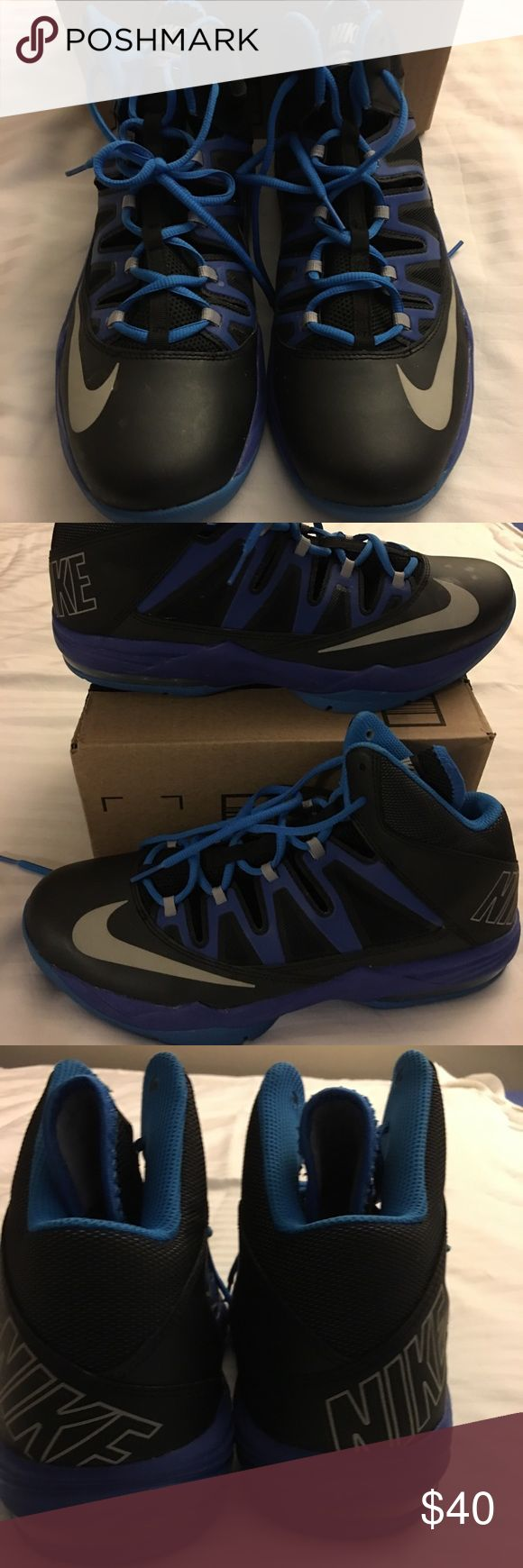 Nike Air Max Stutter Step sneakers size US 11 Nike Black & Blue Air Max Stutter Step Men Basketball 🏀 sneakers, slightly worn Nike Shoes Sneakers