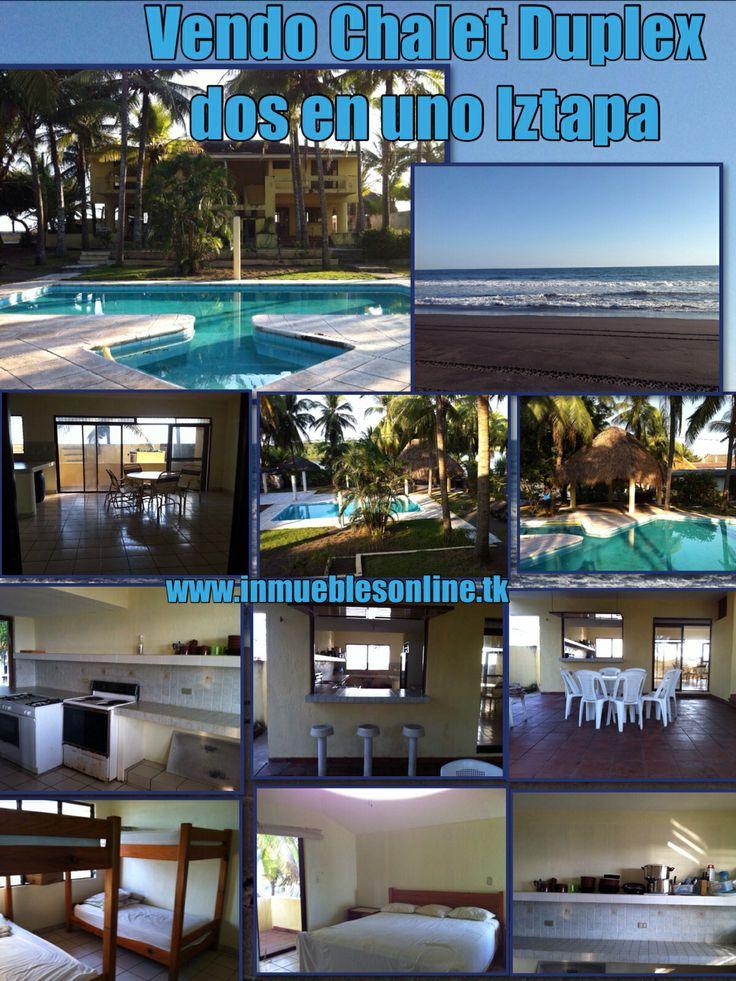Vendo chalet duplex dos en uno iztapa playa del pacifico for Construccion de piscinas en guatemala