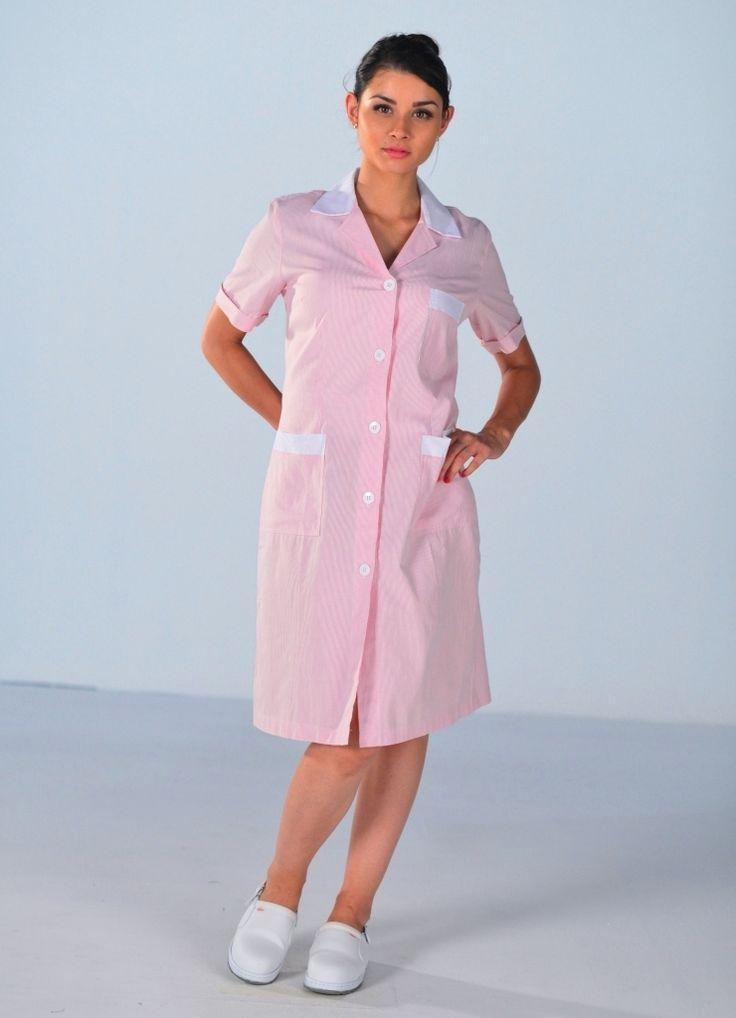 Blouse de travail femme de m nage rose blouse femme de chambre et soubrette maid uniform - Travail de femme de chambre ...