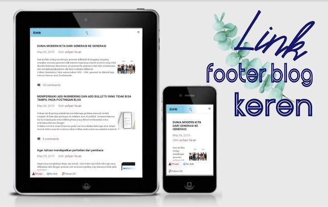 Cara Membuat Link Footer Blogger Keren Blog Dunia