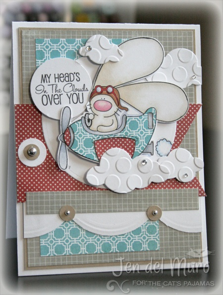 I Heart 2 Stamp: Flying Bunny Card