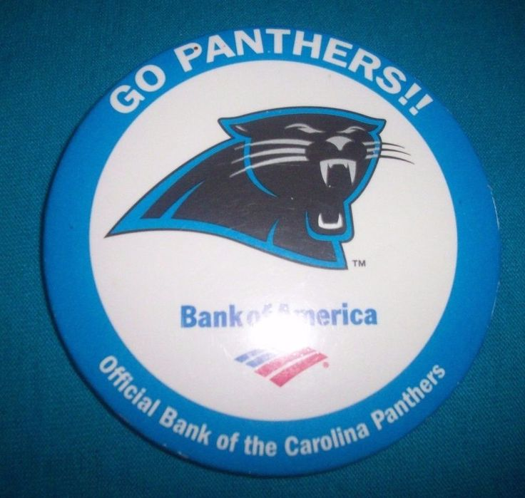 Carolina Panthers Bank of America metal button pin free shipping #Unbranded #CarolinaPanthers