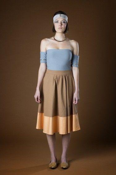 Midi Panel Skirt