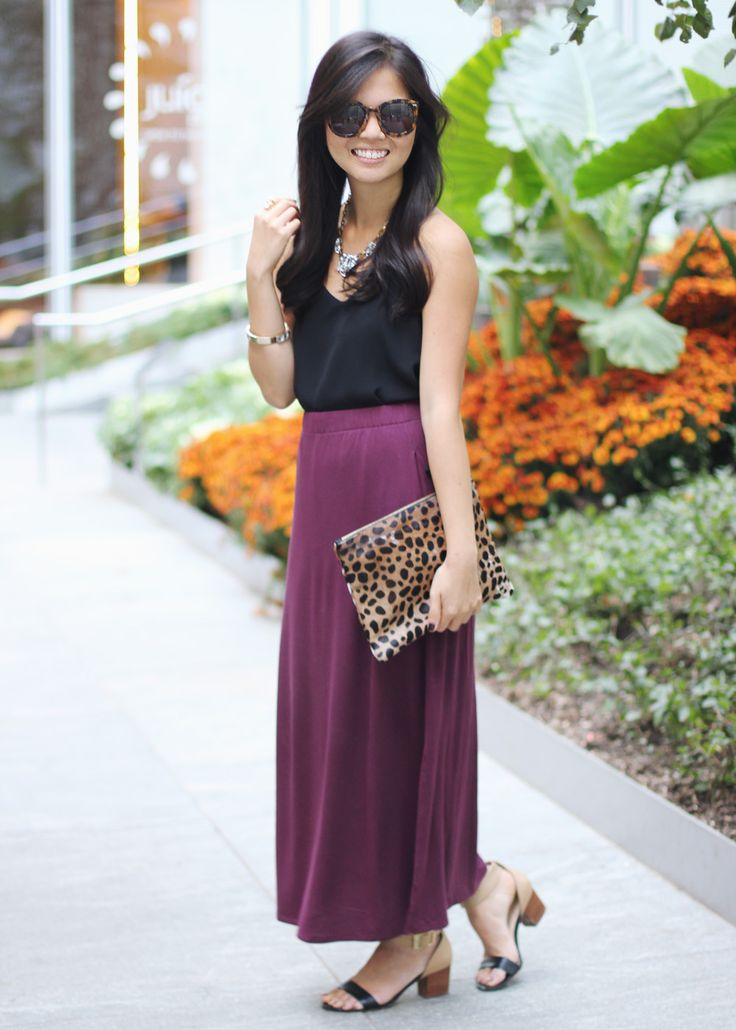 How to Wear a Maxi Skirt if You're Short
