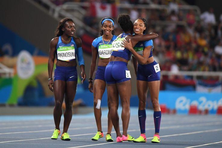 米国が異例の単独再レースで決勝進出、中国の敗退決まる 女子400mリレー #陸上 #リオ五輪