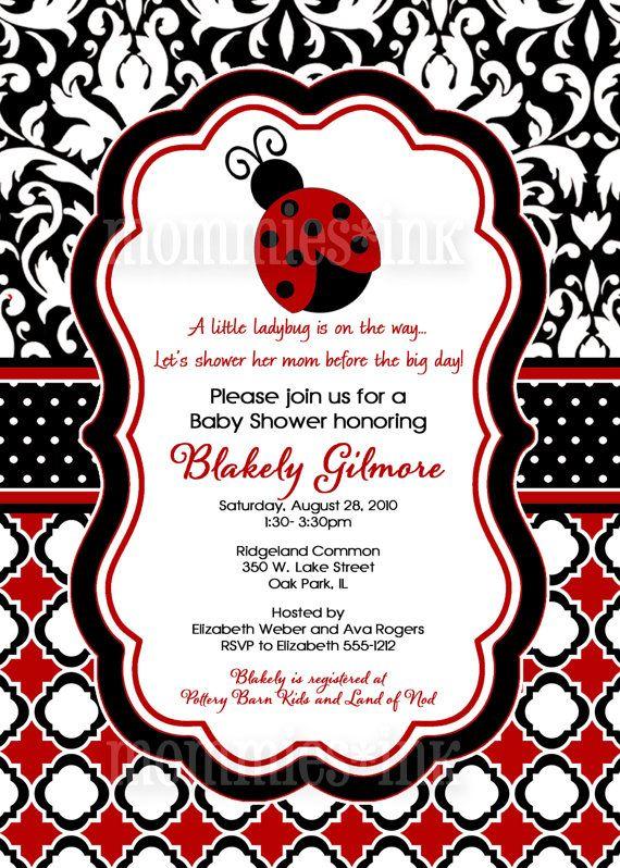 baby shower invitation ladybug baby shower invitation ladybug