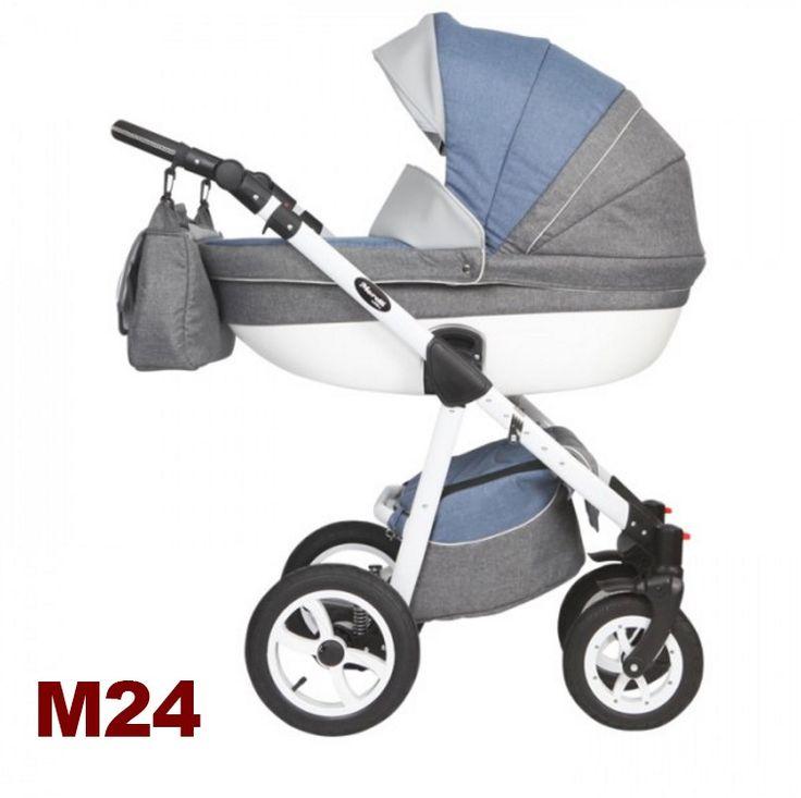 Moretti 3in1 babakocsi - M24 szürke-kék - Zsebi Babaáruház - Babakocsik, bababútorok, autósülések, etetőszékek - Széles választék, kedvező árak