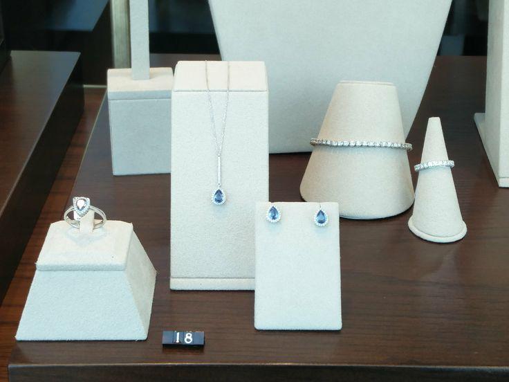 Κοσμήματα από λευκόχρυσο Κ18