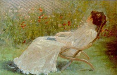 Jane Sutherland (1853-1928),  Australian Landscape Painter - Daydream, 1895
