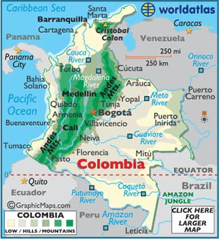 Colombia Map / Geography of Colombia / Map of Colombia - Worldatlas.com