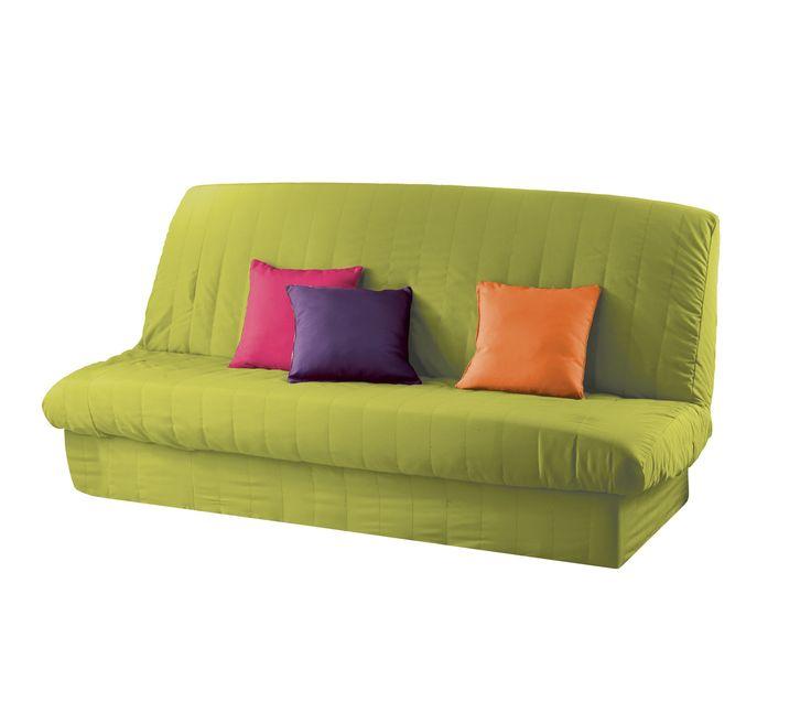 Housse clic clac matelass e anis 140x200 tissu 100 polyester facile d 39 - Changer tissu canape ...