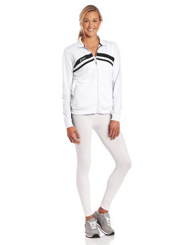 ASICS Women's Cabrillo Jacket,White/Black,X-Large