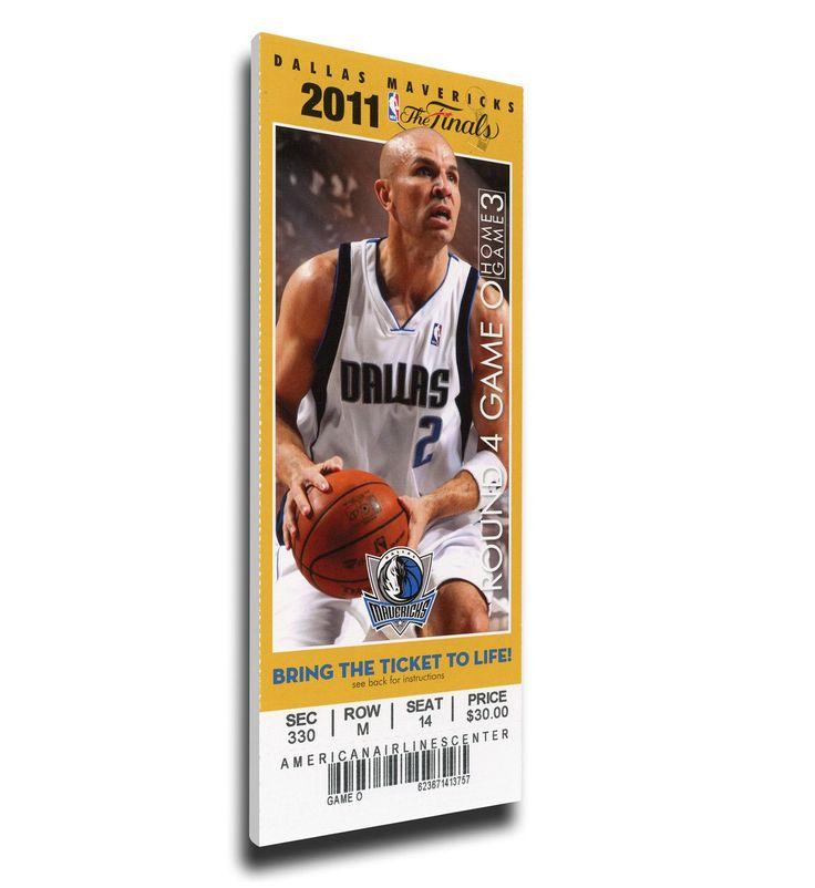 Dallas Mavericks Wall Art - 2011 NBA Finals Canvas Mega Ticket - Game 5, Kidd
