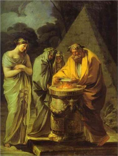 El Sacrificio a Vesta - Francisco de Goya