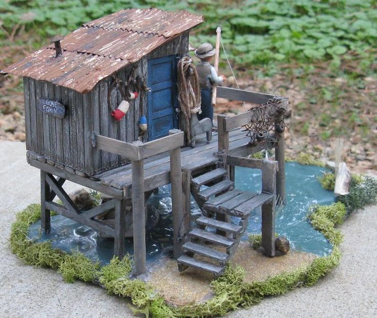 Fishing Shack Diorama