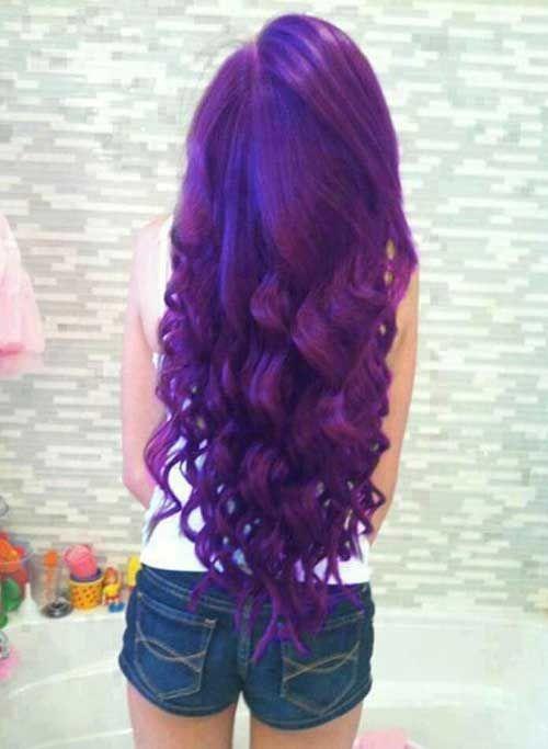 Mor Saç Rengi