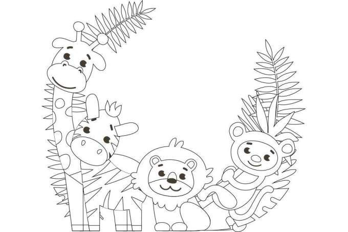 かわいい動物4匹 の塗り絵 無料ダウンロード 印刷 折り紙japan あさがお 折り紙 かわいい封筒 塗り絵 無料