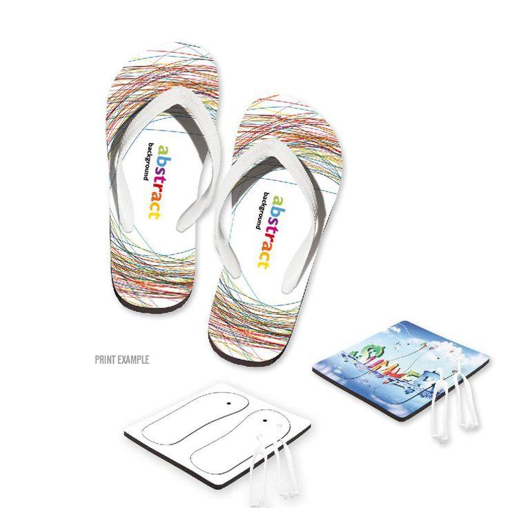 Infradito personalizzati full color con il tuo logo - estate, gadget estivi, gadget hotel, gadget mare, gadget matrimonio