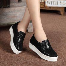 Mujeres Platfrom Zapatos Mocasines Planos 2017 Mujeres de la Marca de Cuero Zapatos de Plataforma Casuales Para Damas Nueva Moda Zapatos de Los Planos de Las Mujeres 2528(China (Mainland))